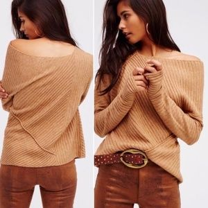FREE PEOPLE Love & Harmony - Asymmetrical Sweater